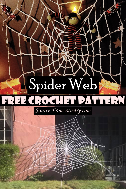 Free Crochet Spider Web Pattern