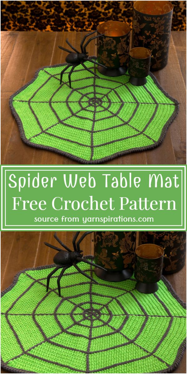 Free Crochet Spider Web Table Mat Pattern