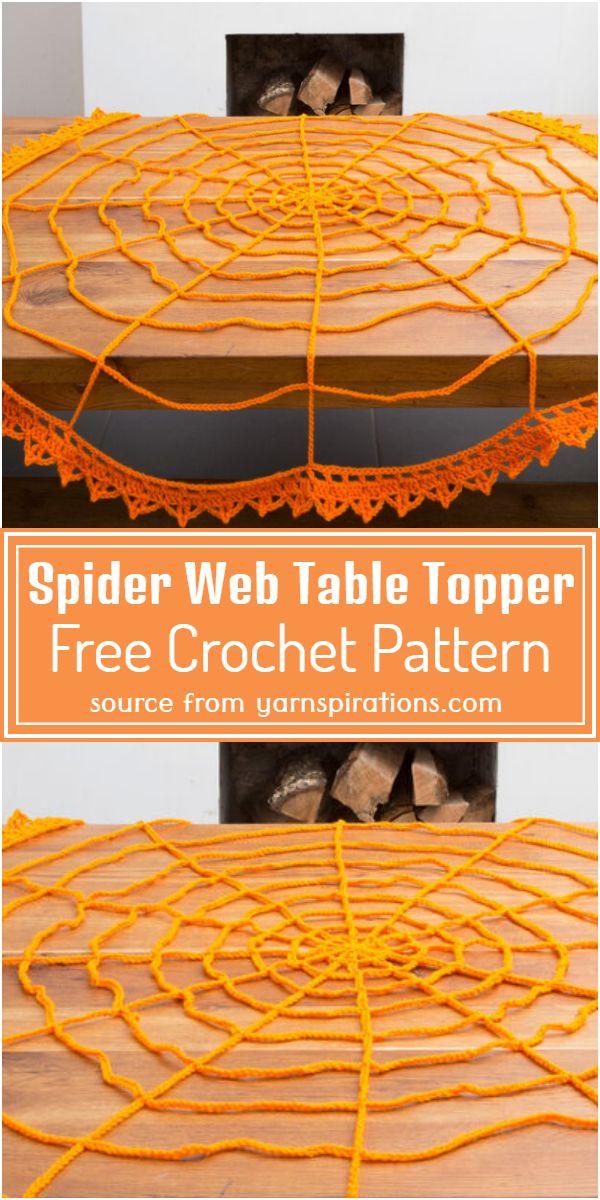 Free Crochet Spider Web Table Topper Pattern