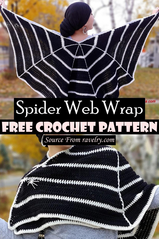 Free Crochet Spider Web Wrap Pattern