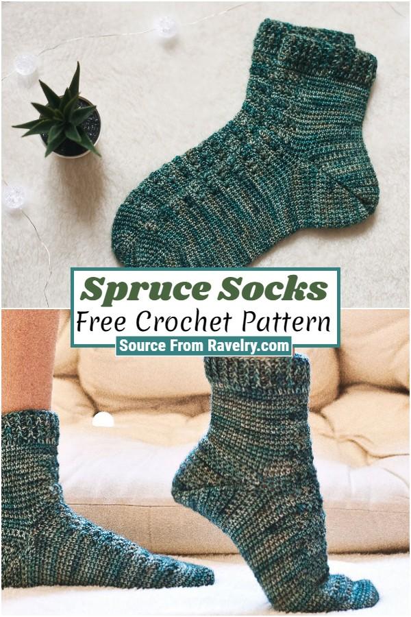 Free Crochet Spruce Socks