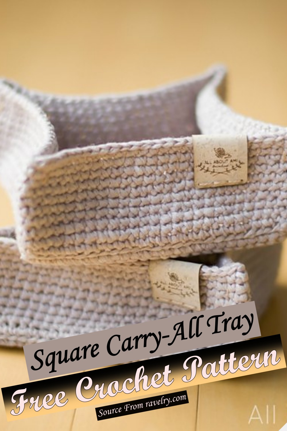 Free Crochet Square Carry-All Tray Pattern 1