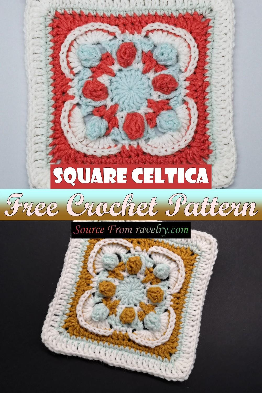 Free Crochet Square Celtica Pattern