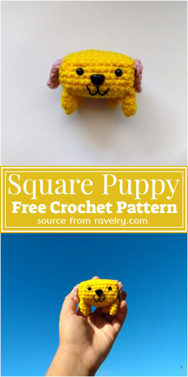 Free Crochet Square Puppy Pattern