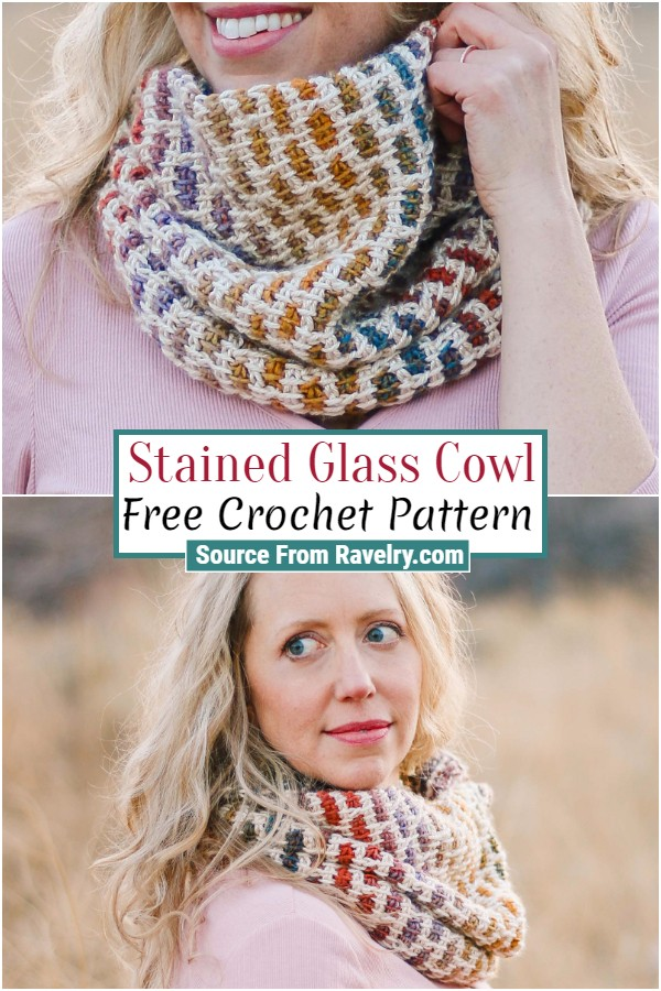 Free Crochet Stained Glass Cowl