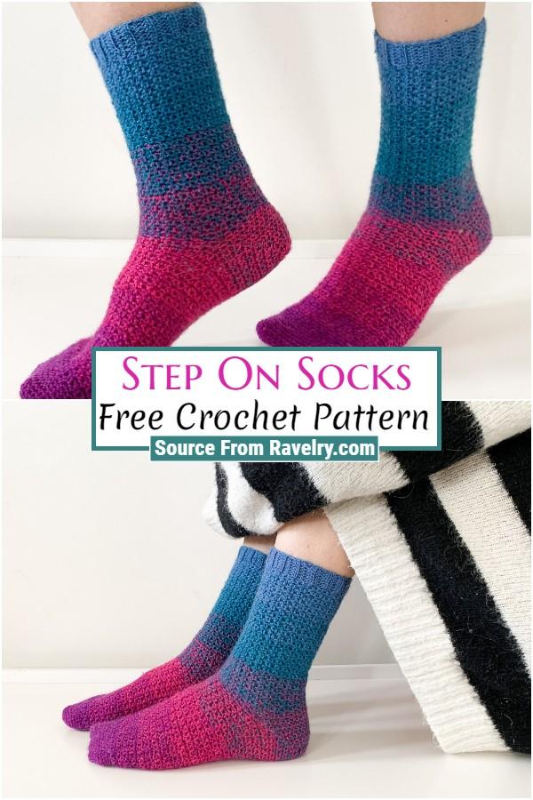 Free Crochet Step On Socks
