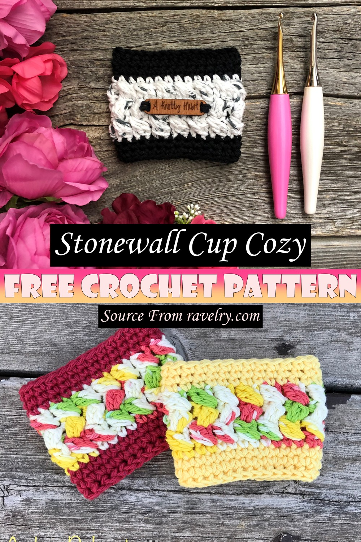 Free Crochet Stonewall Cup Cozy Pattern