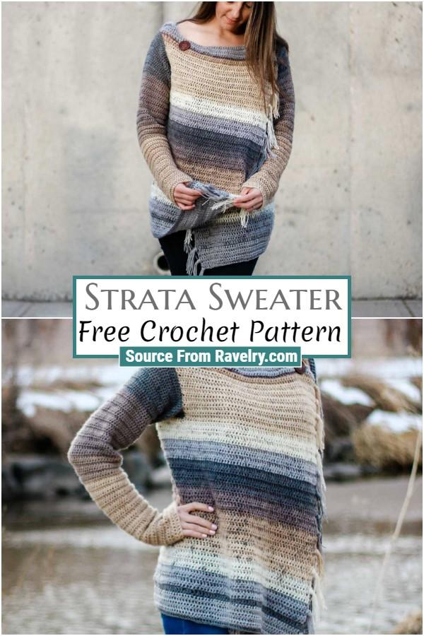 Free Crochet Strata Sweater
