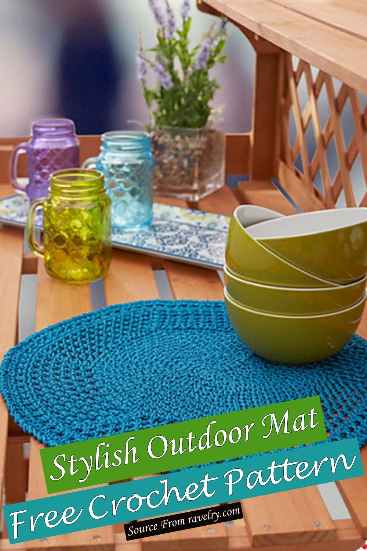 Free Crochet Stylish Outdoor Mat Pattern