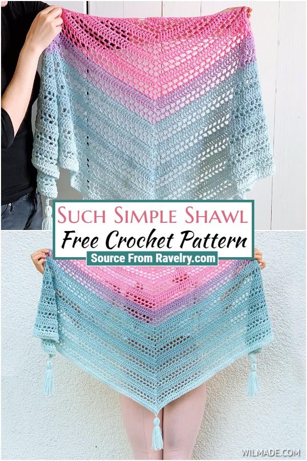 Free Crochet Such Simple Shawl