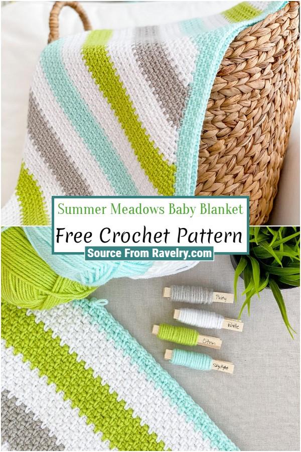Free Crochet Summer Meadows Baby Blanket