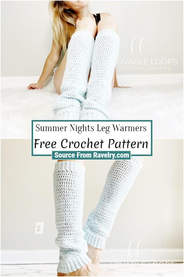 Free Crochet Summer Nights Leg Warmers