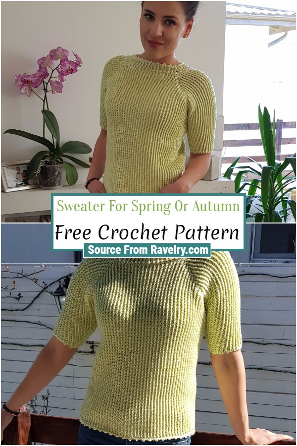 Free Crochet Sweater For Spring Or Autumn