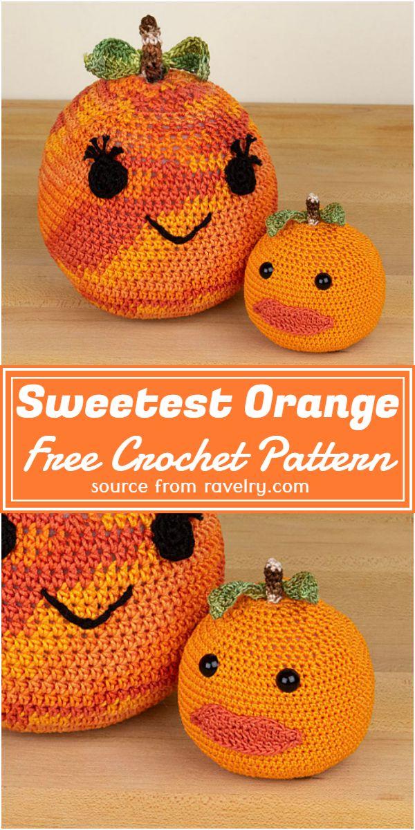 Free Crochet Sweetest Orange Pattern