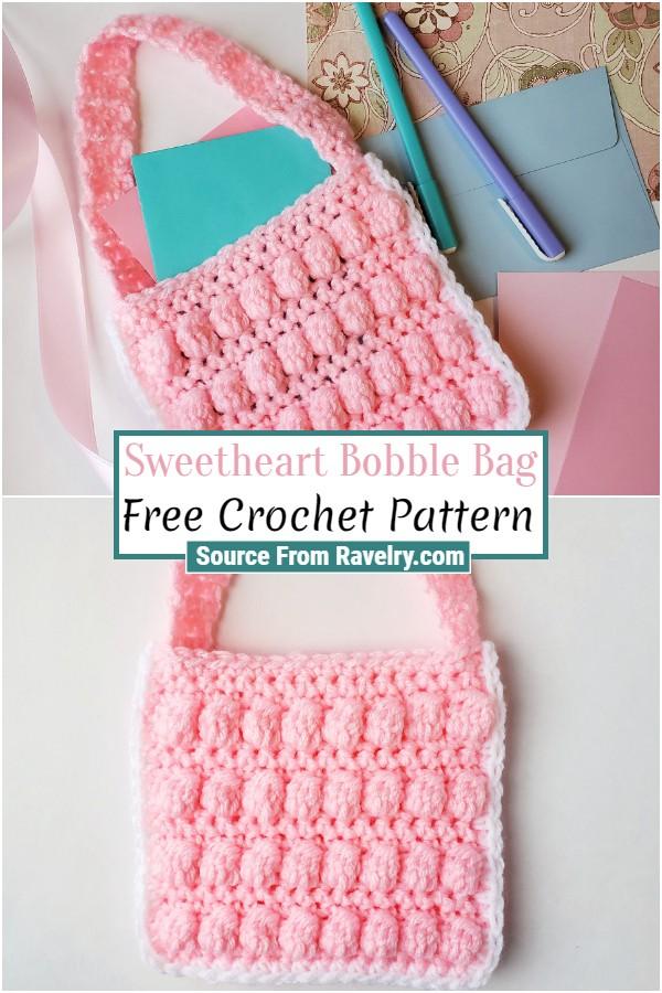 Free Crochet Sweetheart Bobble Bag