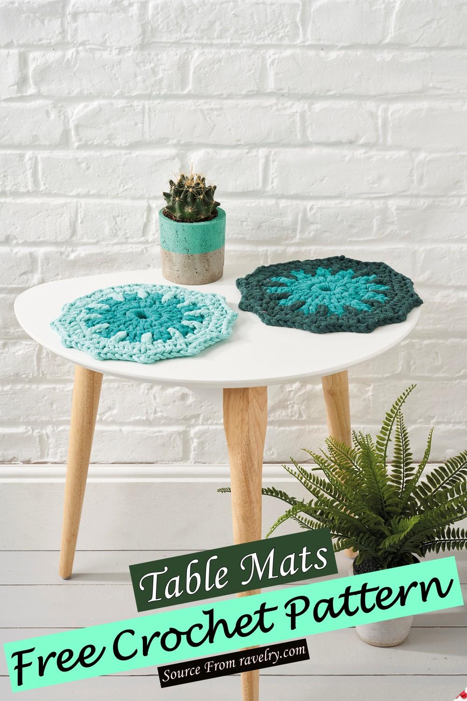 Free Crochet Table Mats Pattern
