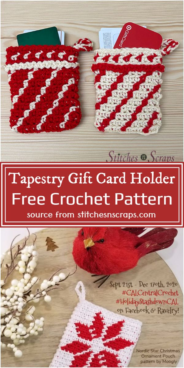 Free Crochet Tapestry Gift Card Holder Pattern