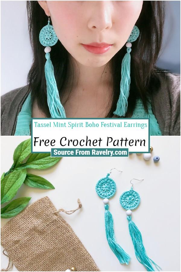 Free Mint Spirit Boho Festival Earrings