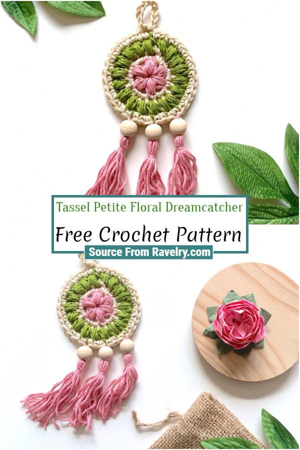 Free Crochet Tassel Petite Floral Dreamcatcher