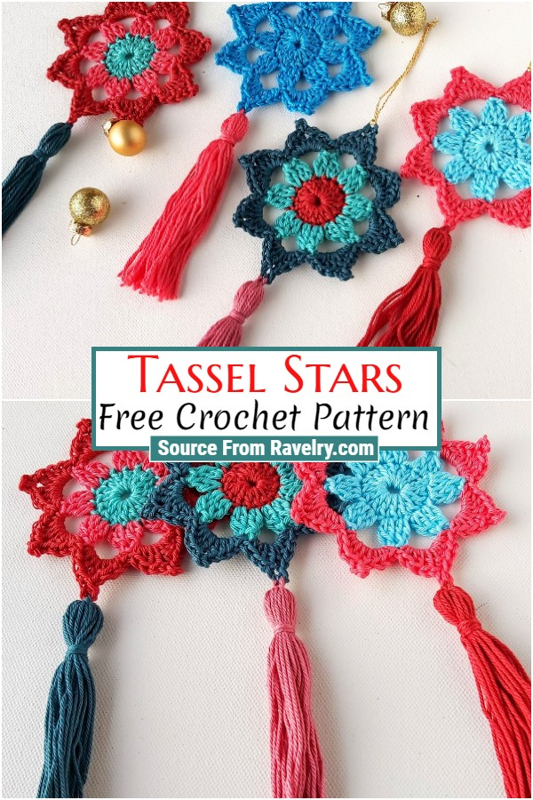 Free Crochet Tassel Stars