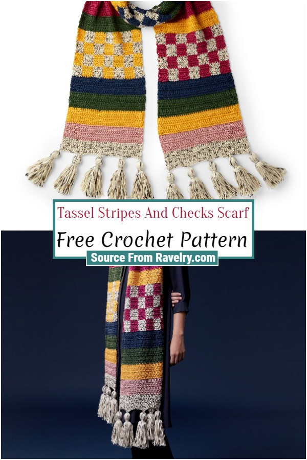 Free Stripes And Checks Scarf