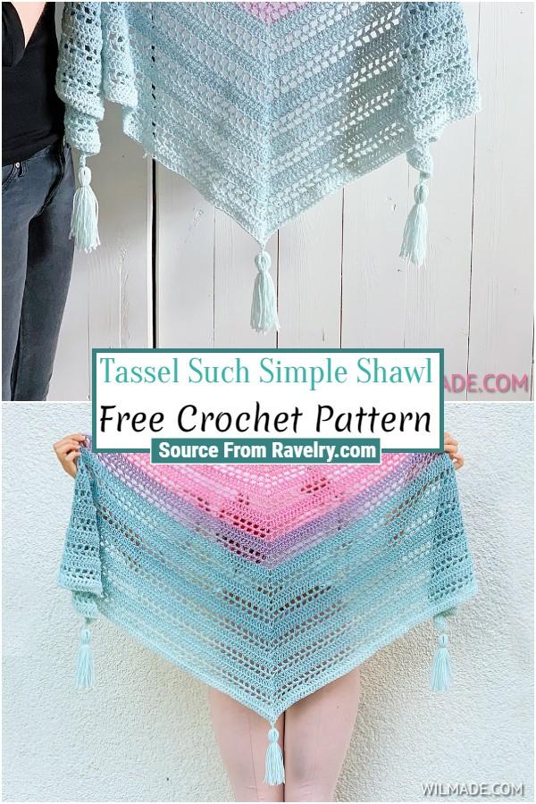 Free Crochet Tassel Such Simple Shawl