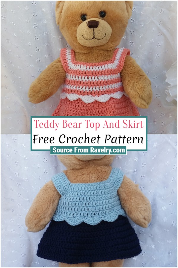 Free Crochet Teddy Bear Top And Skirt
