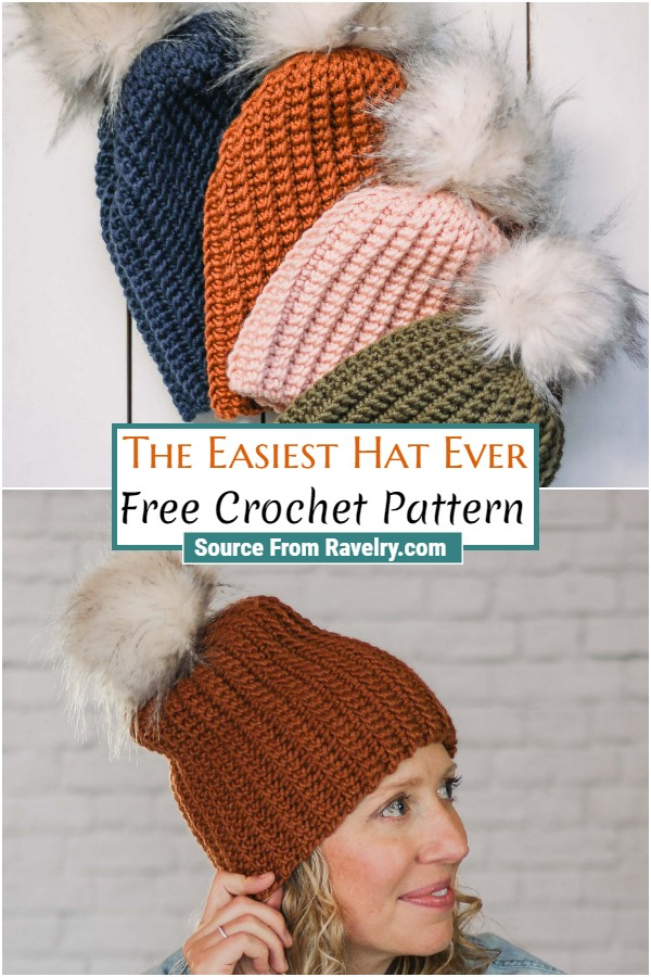 Free Crochet The Easiest Hat Ever