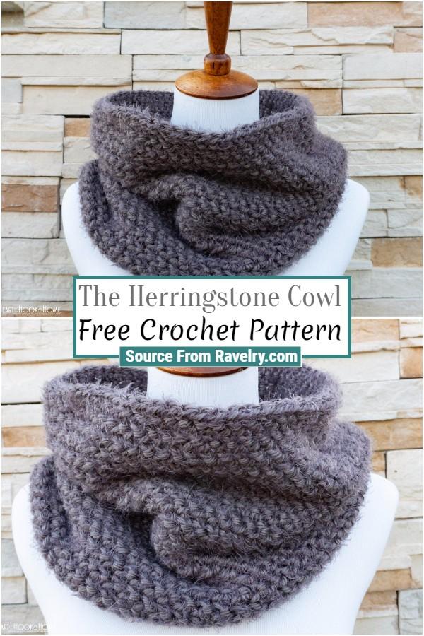 Free Crochet The Herringstone Cowl
