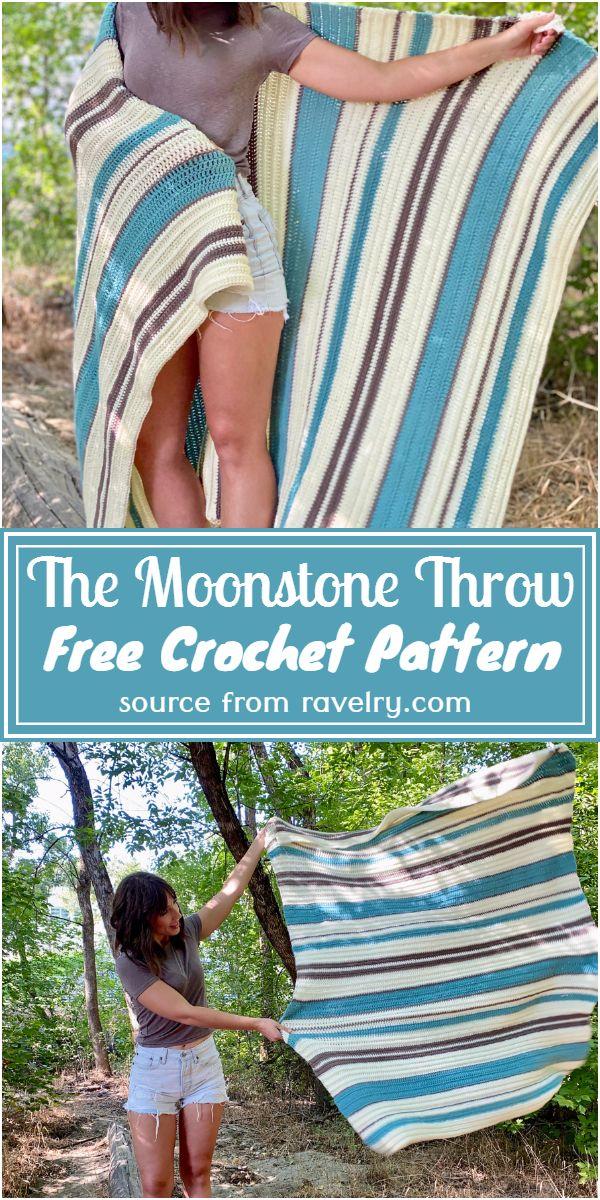 Free Crochet The Moonstone Throw Pattern