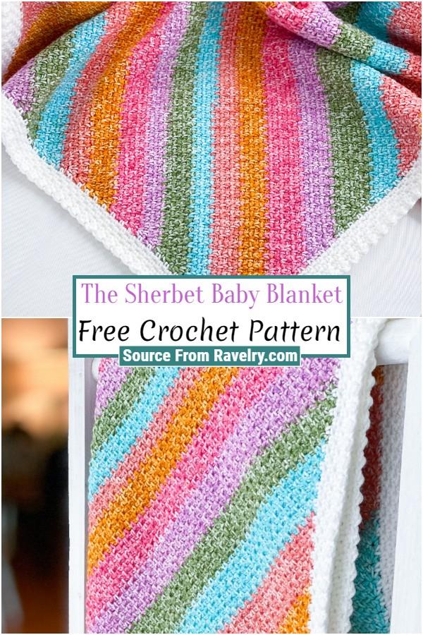 Free Crochet The Sherbet Baby Blanket