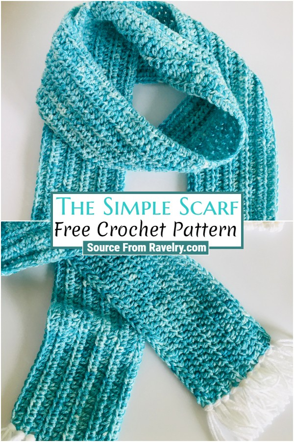 Free Crochet The Simple Scarf