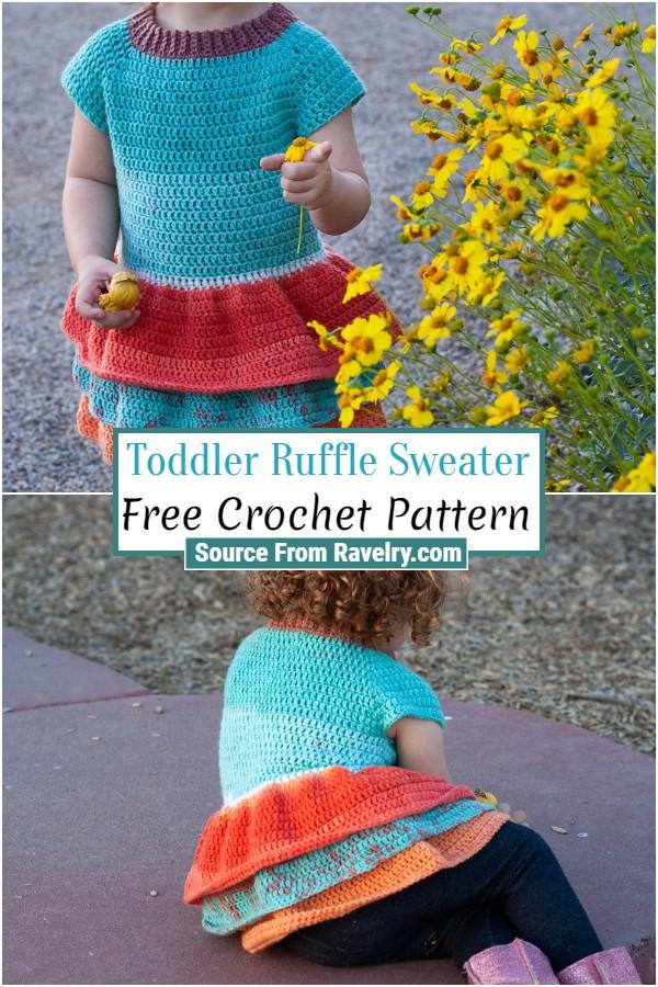 Free Crochet Toddler Ruffle Sweater