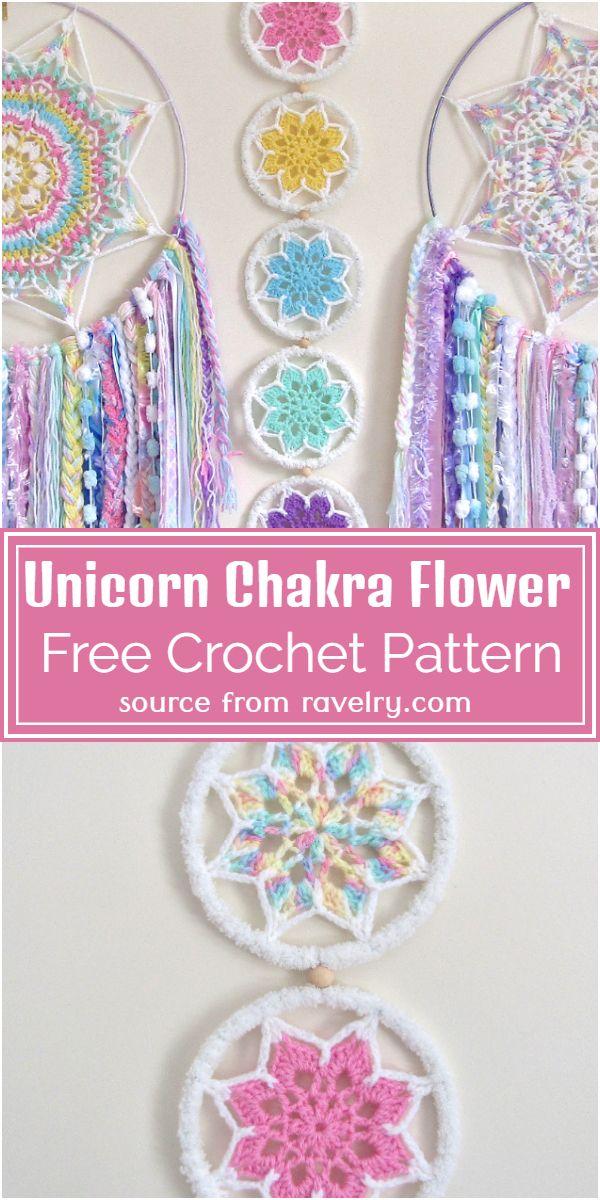 Free Crochet Unicorn Chakra Flower Pattern