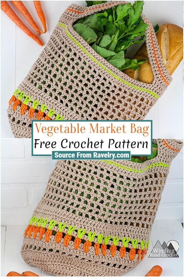 Free Crochet Vegetable Market Bag