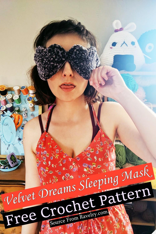 Free Crochet Velvet Dreams Sleeping Mask Pattern