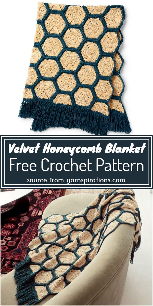 Free Honeycomb Blanket Pattern