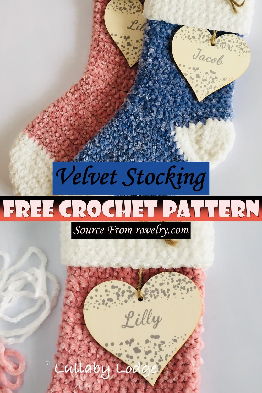 Free Crochet Velvet Stocking Pattern