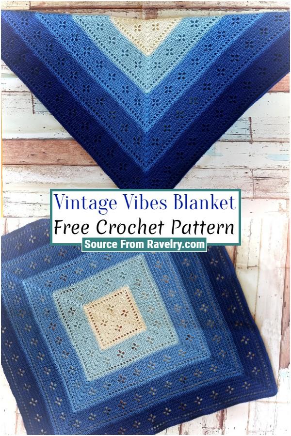 Free Crochet Vintage Vibes Blanket