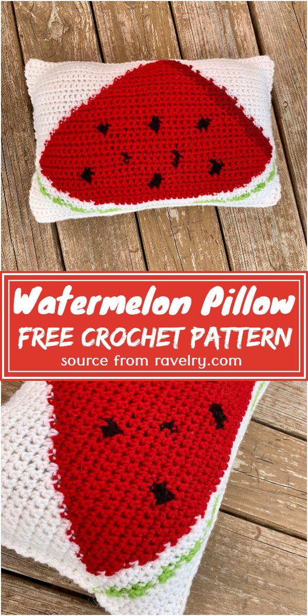 Free Crochet Watermelon Pillow Pattern