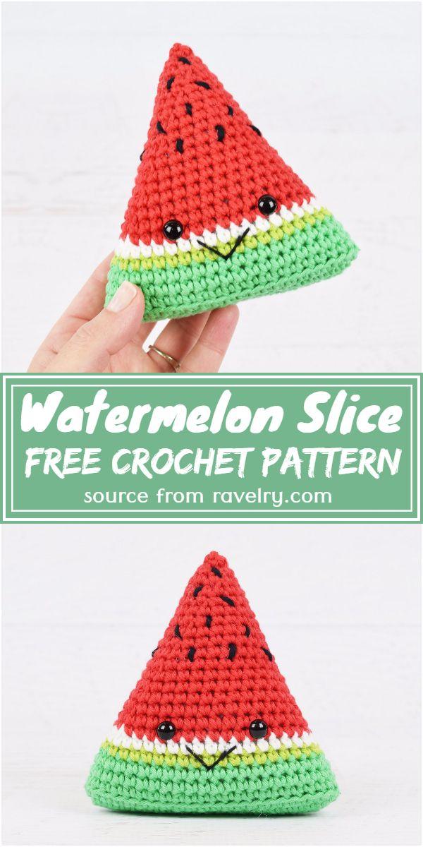 Free Crochet Watermelon Slice Pattern