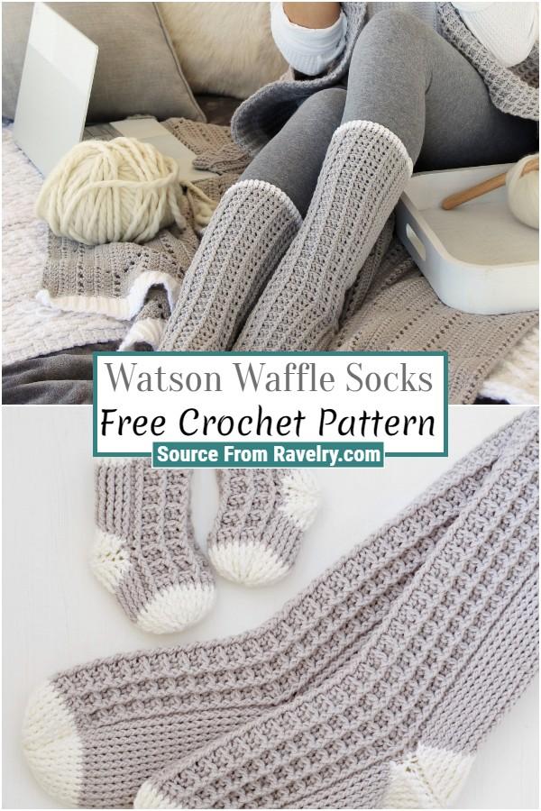 Free Crochet Watson Waffle Socks