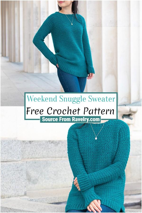 Free Crochet Weekend Snuggle Sweater