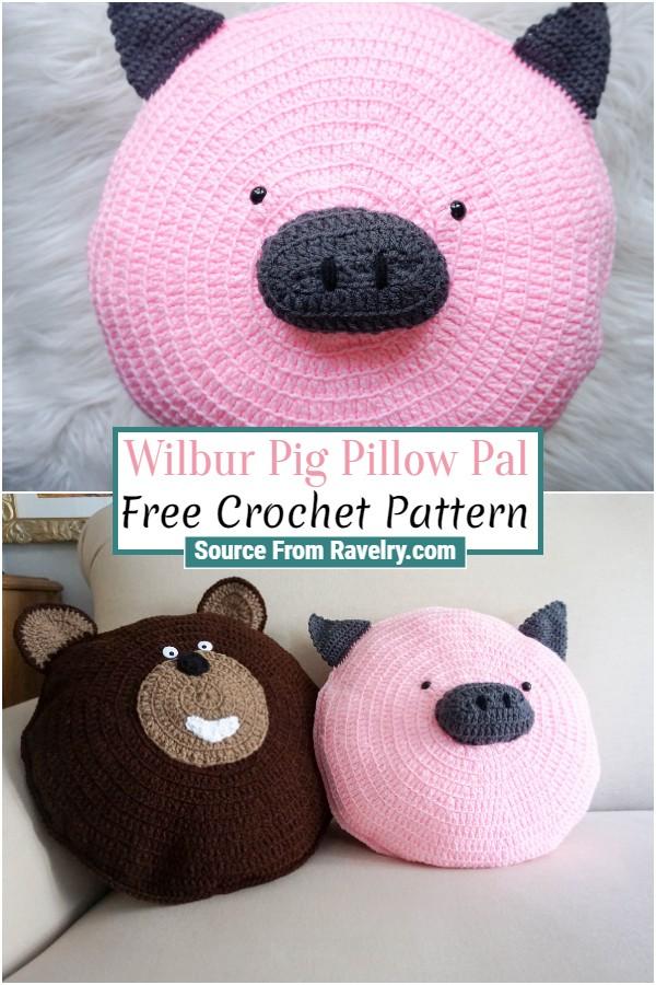 Free Crochet Wilbur Pig Pillow Pal