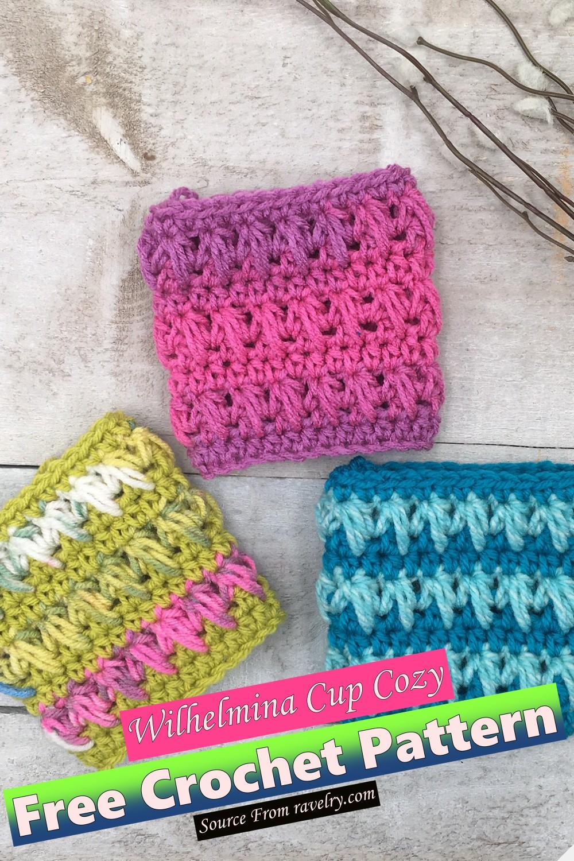 Free Crochet Wilhelmina Cup Cozy Pattern