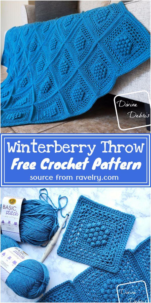 Free Crochet Winterberry Throw Pattern