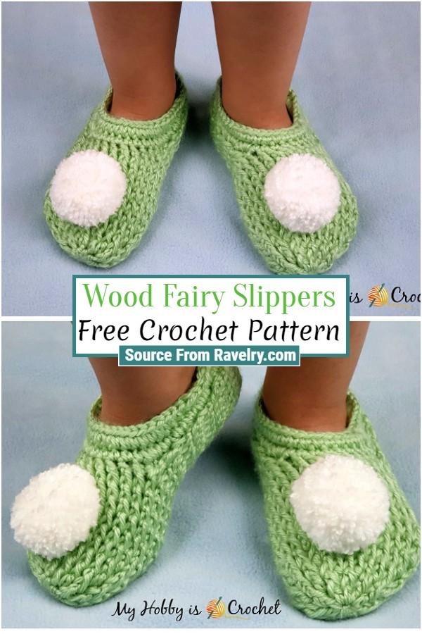 Free Crochet Wood Fairy Slippers