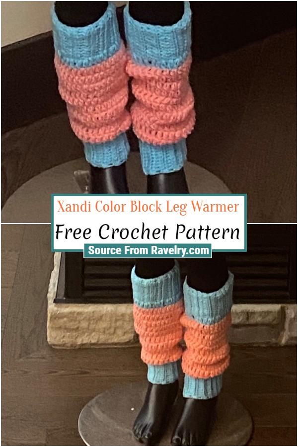 Free Crochet Xandi Color Block Leg Warmer