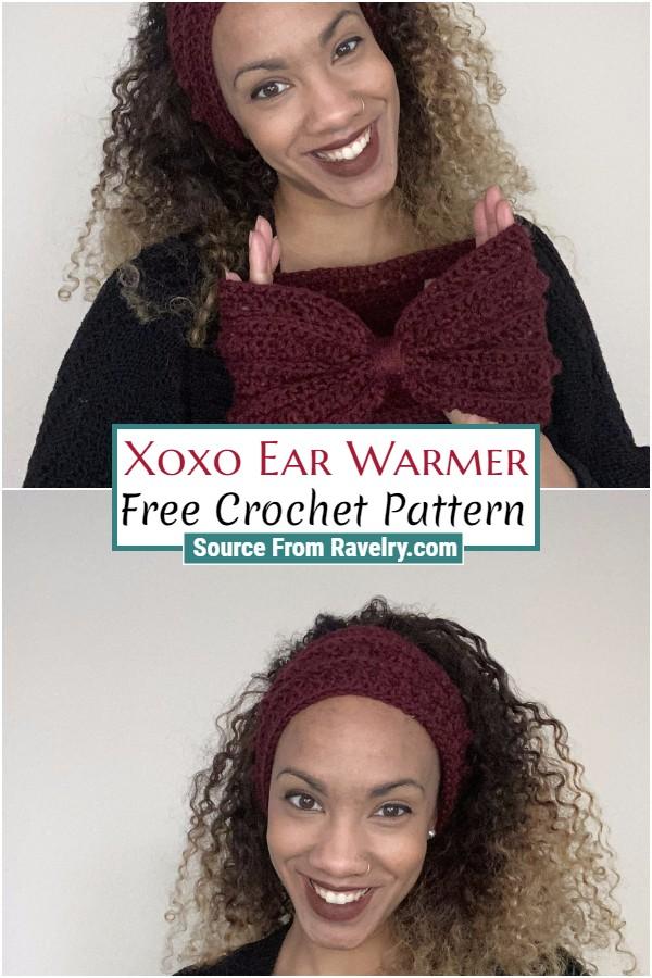 Free Crochet Xoxo Ear Warmer