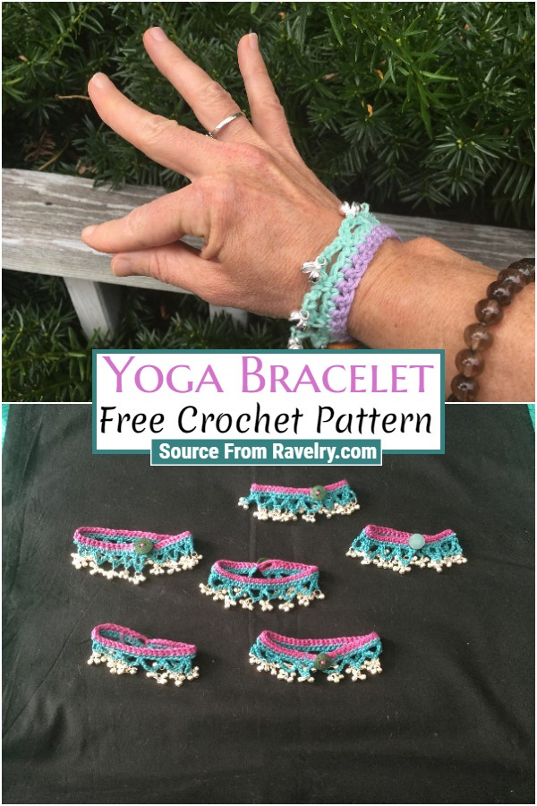 Free Crochet Yoga Bracelet